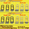 JCD Single/Dual SIM Card Tray Slot Holder Direct screen/curved screen For Samsung Galaxy S7/S7 edge G935 G935F G935A