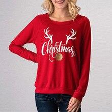 Women Hoodies Sweatshirts Letter Printed Ladies Autumn Winter Fall Clothing Sweat Shirts Merry Christmas