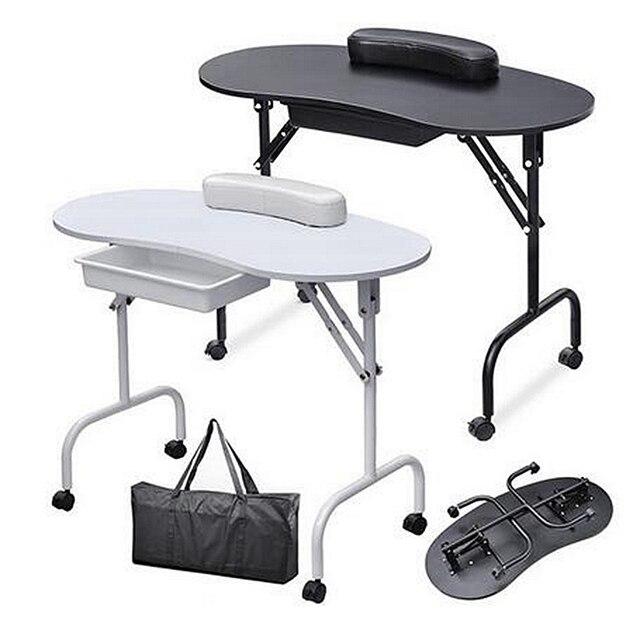 מגניב ביותר ציוד לסלון ציפורניים מניקור מסמר שולחן מתקפל נייד עם תיק רהיטי QE-14