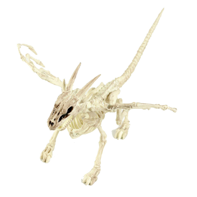 Halloween Decoration Bone Props Animals Skeleton Ornaments Bat Spider Dragon Bird Bones Hallowmas Horror House Party Decoration (126)