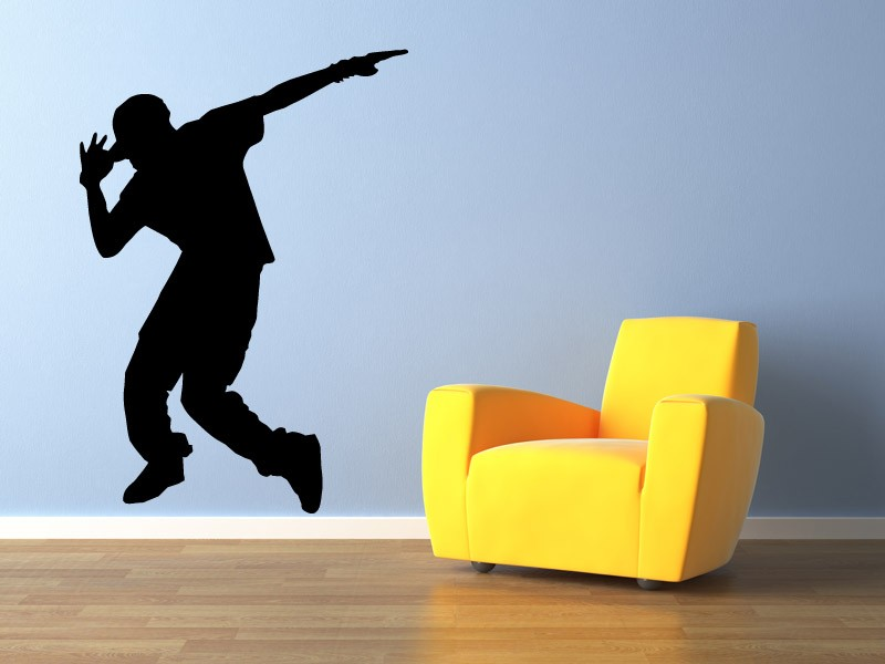 Hip Hop Dancer Wall Decals Silhouette Wall Art Decal Vinyl Stickers  Removable Waterproof Teens Boy Room Dance Studio Decor ZA239 In Wall  Stickers From Home ...