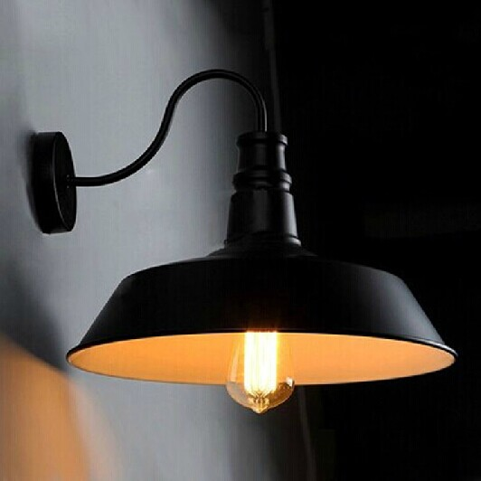 ФОТО Designer Vintage Loft American country industrial wind bed bedroom aisle stairs cute European aluminum cap wall lamp zzp