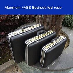 Cassa di attrezzo di alluminio cassetta degli attrezzi telaio In Alluminio di Affari di consulenza valigia Uomo portatile valigia valigetta Valigia di carta