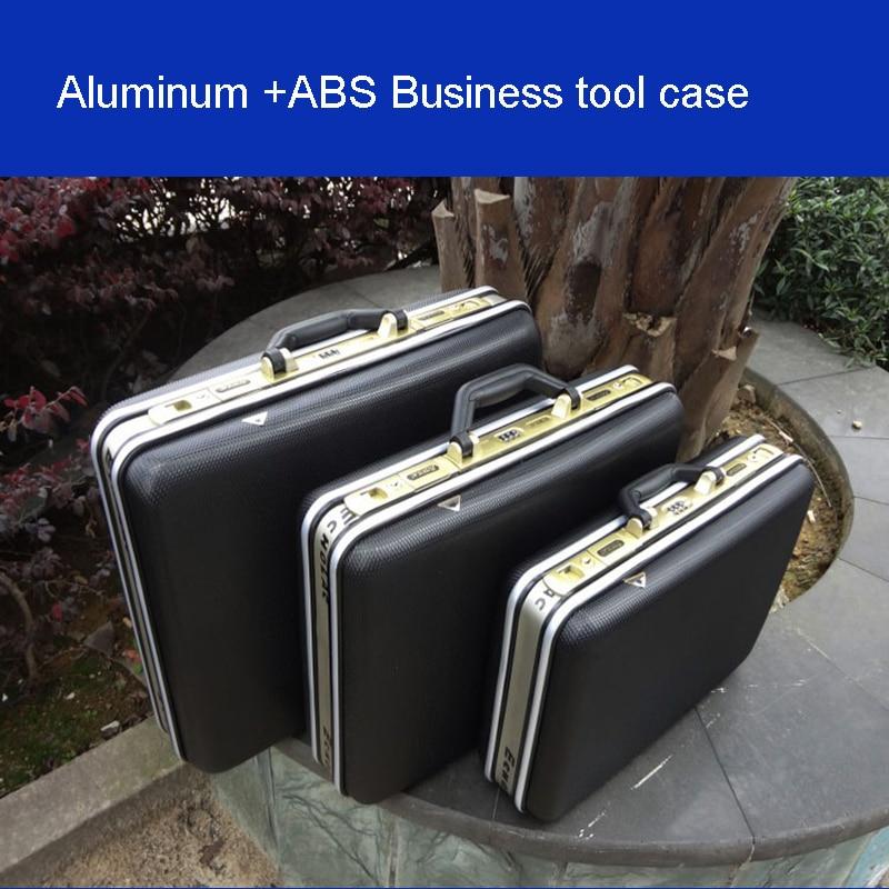 aluminium tool case toolbox Aluminum frame Business advisory suitcase Man portable suitcase briefcase Suitcase card