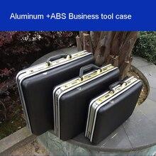 aluminium tool case toolbox Aluminum frame Business advisory suitcase Man portable briefcase Suitcase card Luggage