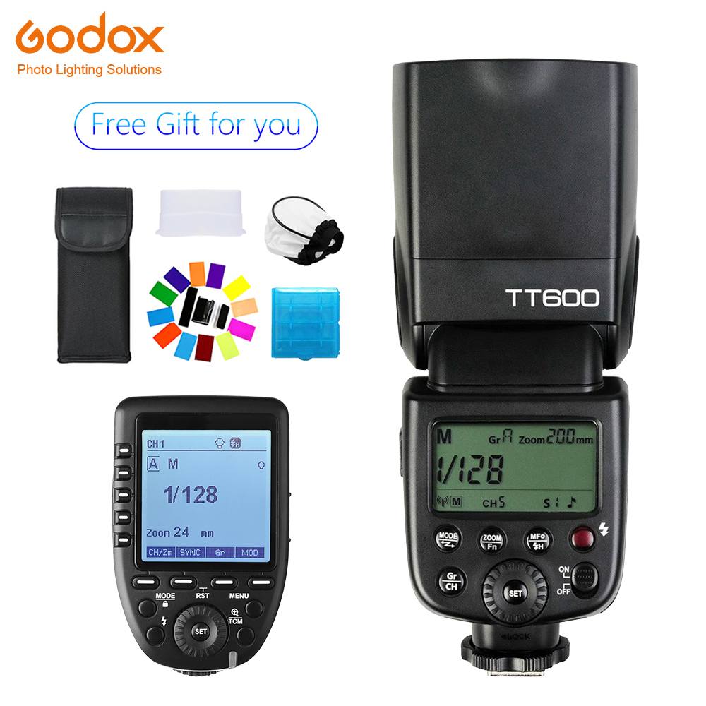Godox TT600 Speedlite Wireless Flash Camera 2 4G Xpro C N S F O Wireless Trigger Flash for Canon Nikon Sony Fujifilm Olympus in Flashes from Consumer Electronics