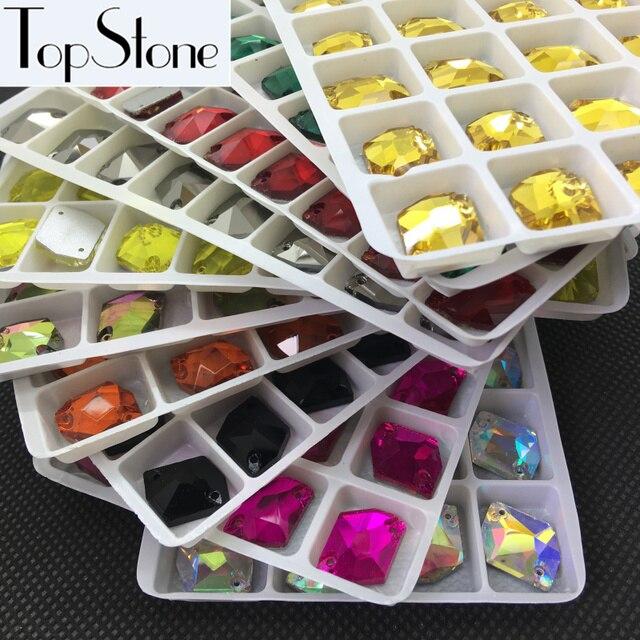 All Colors 13x17mm Cosmic Shape Glass Crystal Sew On Rhinestones 17x14mm  Flatback 2holes Sewing Jewelry beads 1cc87808e633
