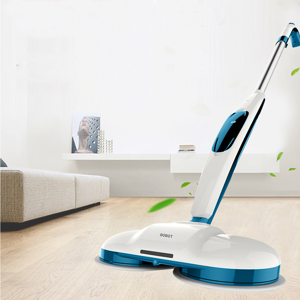 где купить BOBOT MOP520 Cordless Electric Floor Mops Sweeper Hand Push Sweeping Robot Cleaning Mop Machine LED Lamp + 60dB Low Noise дешево