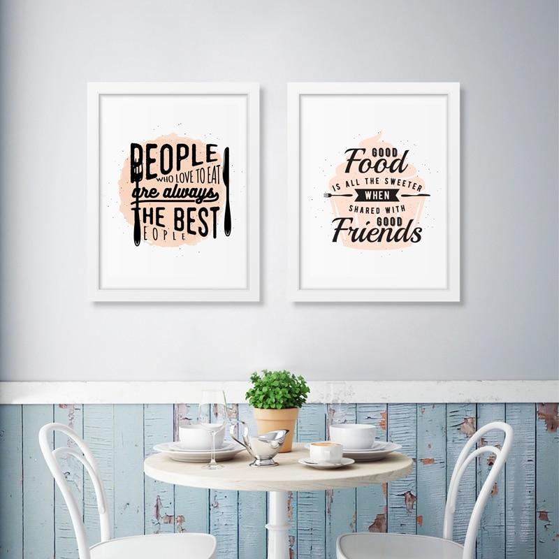Aliexpress Com Buy Kitchen Decor Food Quote Canvas