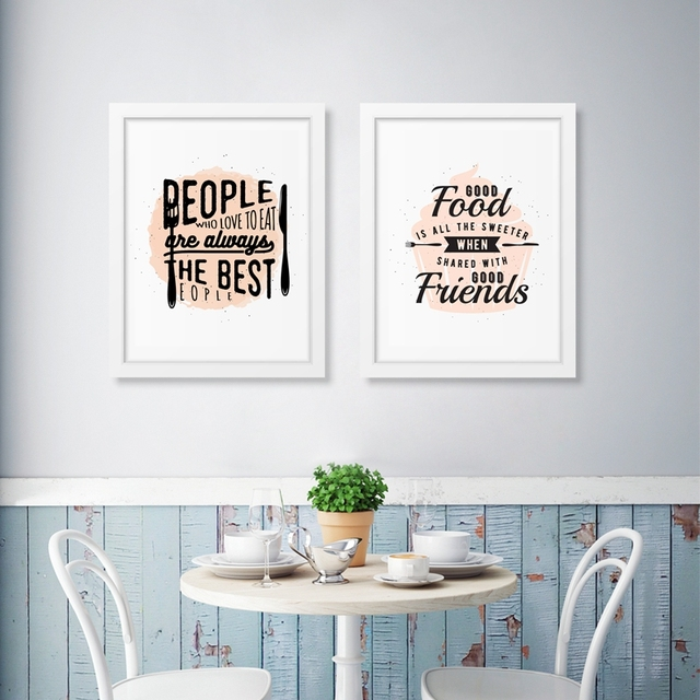 Sweet Food Quote Canvas Painting Dessert Shop Art Print Picture For ...