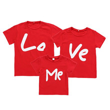 Love Me Family Look Tshirt Mother Daughter Parent-child Clothes Mommy and Baby Boy Cotton T-shirt Matching YYL2018121002