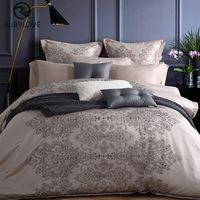 New 4pcs Luxury Washed Silk Handwork Plaid Bedding Sets Red Green Grey Bedsheet Cotton Queen King Size