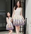 mother daughter dresses spring summer 2017 children girls strapless dress family matching outfits