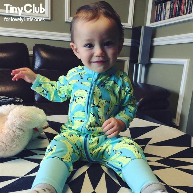 7ad2d529745f Infant Jumpsuit Long Sleeves Banana Romper Baby Boy Girl Clothes Tiny  Cottons New Born Toddler Onesie Overall Outfit Pajamas