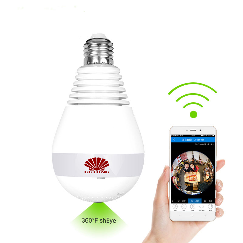 960P 360 Degree Wireless Panoramic IP Camera LED Bulb Lamp Mini WIFI CCTV Alarm 3D VR Camera Smart Home Security Free APP Alarm960P 360 Degree Wireless Panoramic IP Camera LED Bulb Lamp Mini WIFI CCTV Alarm 3D VR Camera Smart Home Security Free APP Alarm