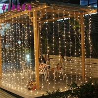 Outdoor Lighting String 6Mx3M 600LED Window Curtain Lights String Fairy Lamp Wedding Party Decor U7112