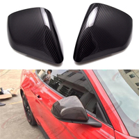 For Ford Mustang GT 2015 2017 Car side Door Rearview wing mirror Exterior Cover Carbon Fiber 3m Paste Install