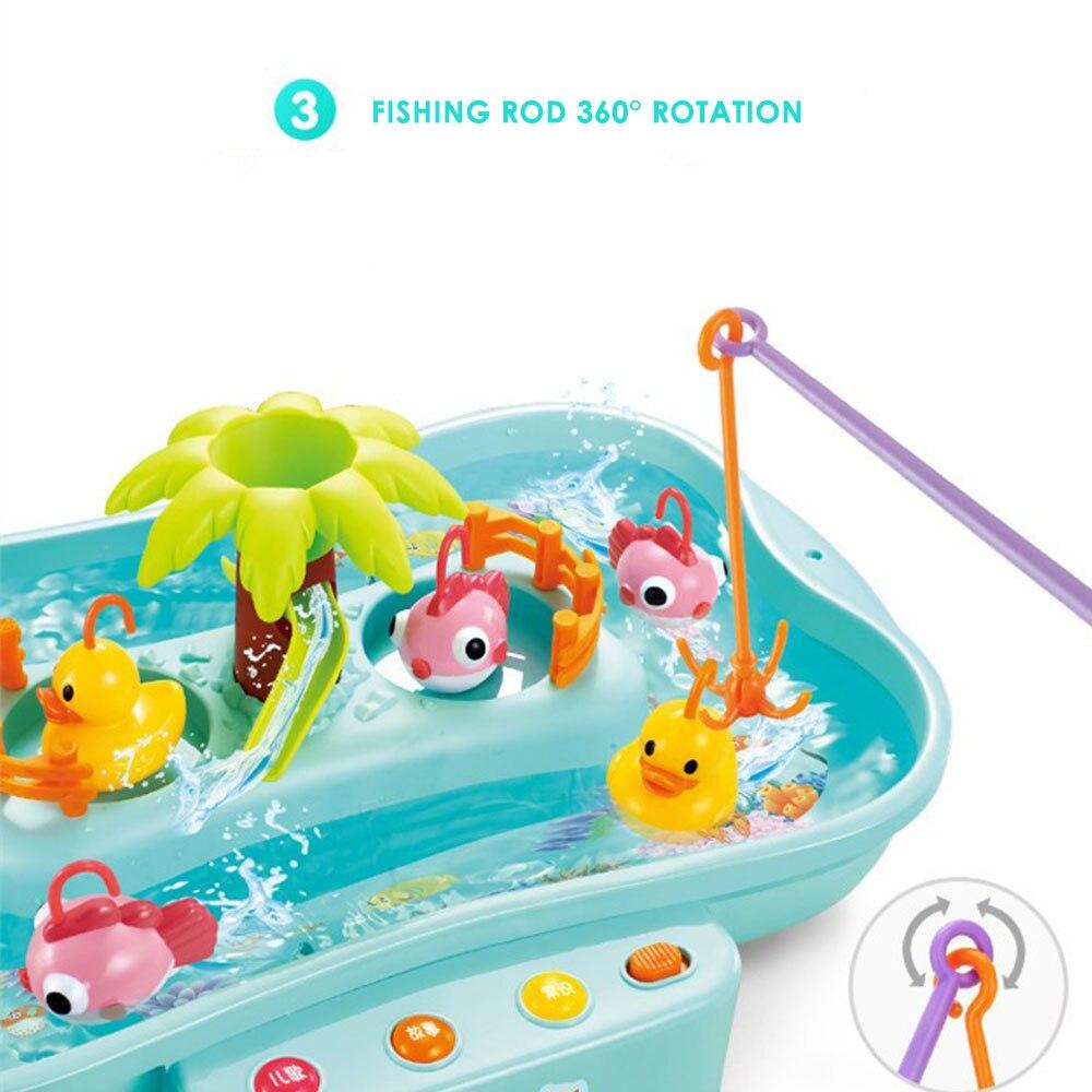Рыболовные игрушки магнитные Электрические рыбные утки большие пластиковые светодиодные упражнения хобби Рыбалка Развивающие игрушки для рыбалки игра