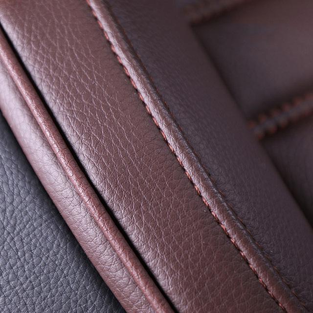 NUEVA cubierta de asiento de coche de cuero Universal de lujo para Mitsubishi todos los modelos ASX Lancer SPORT EX Zinger FORTIS Outlander Grandi sticker