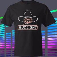 George Strait Bud Light Country Music Singer męska Czarny T-shirt Rozmiar S Do 3XL Koszulki Mężczyźni O-Neck Tees T Shirt Góry Tee
