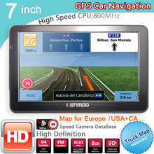 New 7 inch HD Car GPS Navigation BT/FM/8GB/DDR3 Bluetooth avin 2018 Maps For Russia/ Europe/USA/Ca TRUCK Camper Caravan