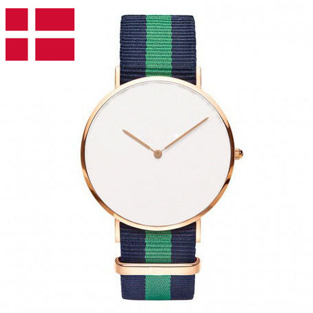 Rose Gold Buckle/Case Canvas Nato Watches New Design White Face Simple vertu signature s design white gold реплика москва