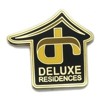 Latest Wholesale Custom Stamped Residences Badge Lapel Pin for Promotion senior residences