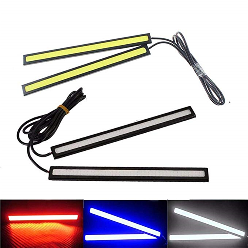 2 Piece 17cm Universal COB LED Car Lamp External Lights Auto Waterproof Car Styling Led Lamp
