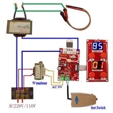 NY-D04 100A двойной дисплей точечной сварки трансформатор контроллер панель управления плата регулировки времени тока