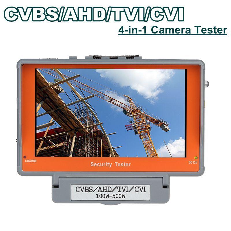 4 in 1 Wrist 5 CVBS/AHD/TVI/CVI CCTV Camera Test Display Monitor Tester Audio OSD POWER