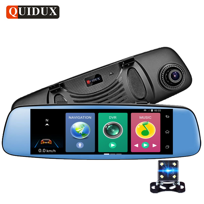 QUIDUX 4G Car DVR 1080P 7.84 Touch Android Rear view mirror Navigator Full HD Video Camera Recorder ADAS Dual lens WiFi Monitor