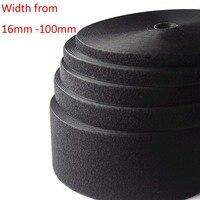 (Ширина 16 мм до 100 мм, Длина 25 м/roll) черные липкие ленты/roll-пришить ленты (не клей)