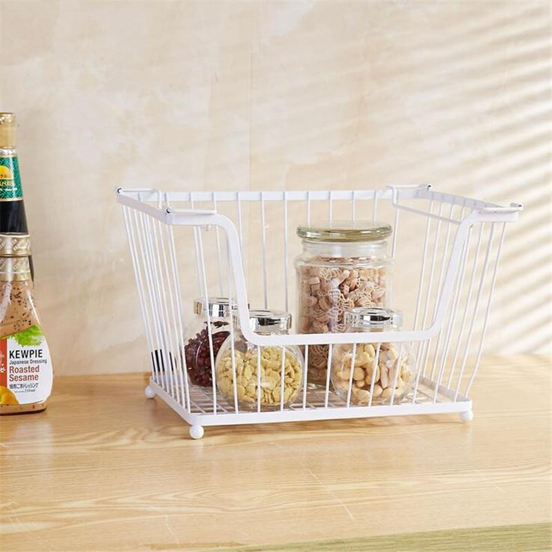 ZIDUKE Desktop Superimposed Storage Rack Kitchen Fruit Basket Vegetables Receiving Basket Bathroom Refrigerator Receiving Rack