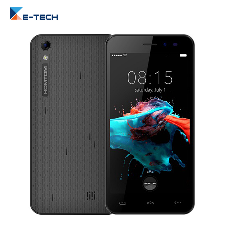 Цена за Оригинал Homtom HT16 5.0 дюймов Сотовый Телефон Android 6.0 MTK6580 Quad Core 1.3 ГГц 1 ГБ RAM 8 ГБ ROM 3 Г 8MP 3000 мАч Аккумулятор Смартфона
