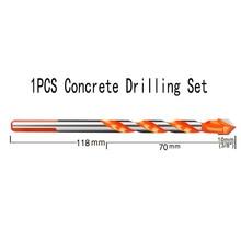 цена на Useful Ceramic Tile Glass Masonry Drill Bit Carbide Tip Multi-function Woodworking Bit Home Garden Tool