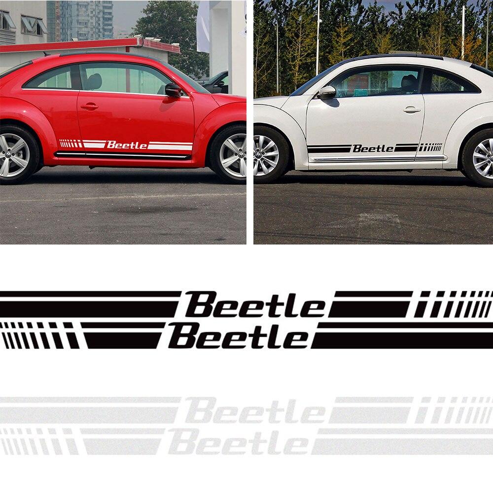 D-618 Car Side Skirt Decoration Sticker Scratch Cover For Volkswagen Beetle car usb sd aux adapter digital music changer mp3 converter for volkswagen beetle 2009 2011 fits select oem radios