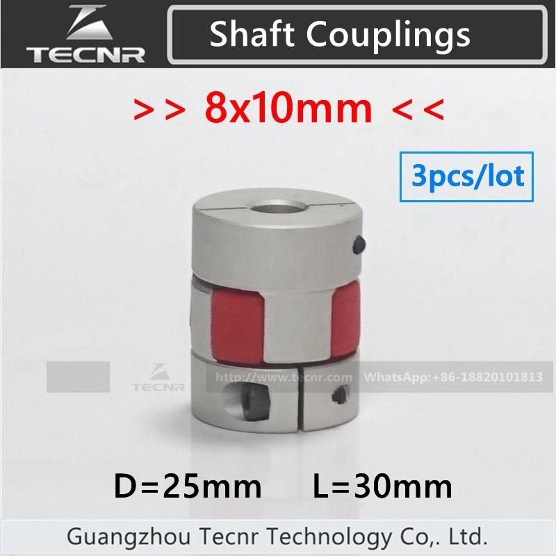 где купить 3pcs/lot 8x10mm Shaft Coupler Flexible Coupling for cnc stepper motor по лучшей цене