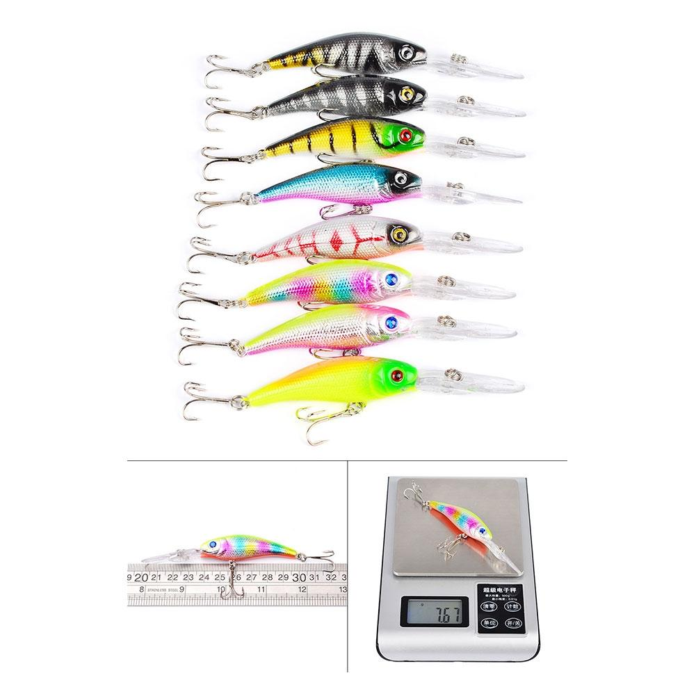 DSstyles 43 Pcs Mixed Fishing Lures Set Artificial Minnow Crank Baits Imitation Soft Lures with Hook 5g 7g 10g lead sinker fishing accesories tools soft lure baits texas group with crank hook new 5 6 8 pcs pack outdoor