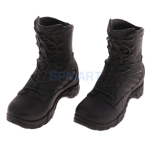 1 6 Escala Policial Militar Modelo de Sapatos Botas de Combate Botas  Táticas para 12 c9f3ed1a7a8