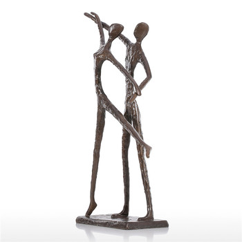 Figure Double Dance Statue Copper Art&Craft Home Decorations Purely Manual Art Crafts Living Room L3041