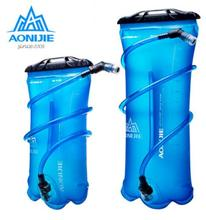лучшая цена AONIJIE 1.5L/2L/3L Outdoor Cycling Running Foldable TPU Water Bag Sport Hydration Bladder For Camping Hiking Climbing