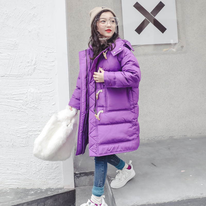 2018 Winter Jackets Girls Fashion Long Parkas Cotton Padded Thicken Warm Coat Teenage Clothes 6 7 8 9 10 12 13 Meisjes Winterjas 2017 new fashion women long coat cotton padded clothes thicken winter female parkas lamb wool hooded drawstring jacket plus size page 8