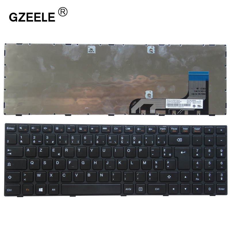 GZEELE French laptop keyboard for <font><b>Lenovo</b></font> ideapad 100-15 100-15IBY 300-15 <font><b>B50</b></font>-<font><b>10</b></font> FR language layout black keyboard Hot and New image