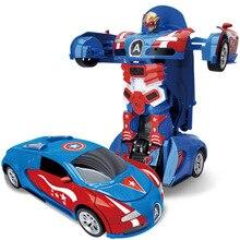 Transformation Plastic Car Model Deformation Figur Robot Collection Leksaker Classic Leksaker För Pojke Födelsedag Julklapp