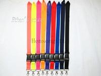 Mix Color Black Blank Plain Badge Key Lanyard For Customized Wholesale Mobile Phone Neck Straps Lots