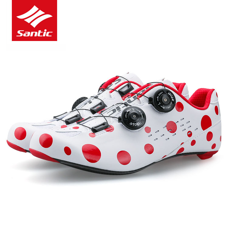 Santic Carbon Fiber Road Cycling Shoes 2017 Mens PRO Road Bike Shoes Rotate Buckle Bicycle Self-locking Shoes Sapatilha Ciclismo inbike road cycling shoes men 2018 carbon fiber road bike shoes self locking bicycle shoe athletic sneakers sapatilha ciclismo