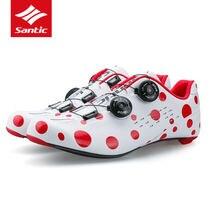 Сантич углеродного волокна Дорожный Велоспорт обувь Мужская 2017 про дороги на велосипеде обувь вращаться Пряжка велосипед самоконтрящаяся обувь Sapatilha Джерси