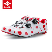Santic Carbon Fiber Road Cycling Shoes 2017 Mens PRO Road Bike Shoes Rotate Buckle Bicycle Self-locking Shoes Sapatilha Ciclismo