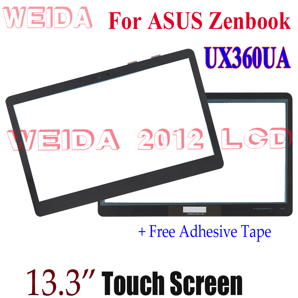 WEIDA Screen Replacment 13.3 For ASUS Zenbook UX360 UX360UA Tablet PC Touch Digitizer Panel Glass