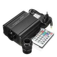 RF Remote Controller Decorative Light Engine Ceiling DIY Glow Star Optical Optic Fiber Multi Mode LED RGBW For Home Car Driver